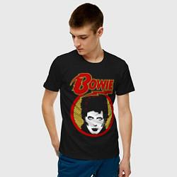 Футболка хлопковая мужская Дэвид Боуи цвета черный — фото 2