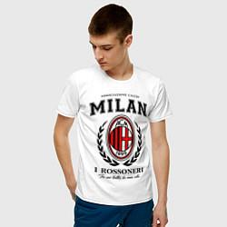 Футболка хлопковая мужская Milan: I Rossoneri цвета белый — фото 2