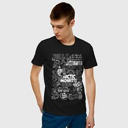 Футболка хлопковая мужская Arctic Monkeys: I'm in a Vest цвета черный — фото 2