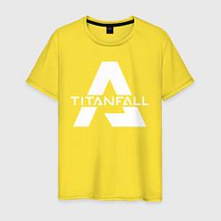Футболка хлопковая мужская Apex Legends x Titanfall цвета желтый — фото 1