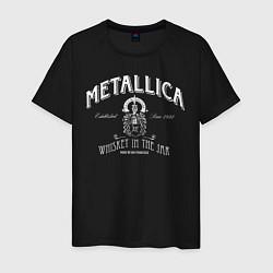 Футболка хлопковая мужская Metallica: Whiskey in the Jar цвета черный — фото 1