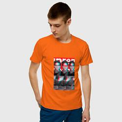 Футболка хлопковая мужская Supreme x Elvis Presley цвета оранжевый — фото 2