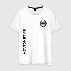 Футболка хлопковая мужская Balenciaga: Light Style цвета белый — фото 1