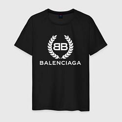 Футболка хлопковая мужская Balenciaga Fashion цвета черный — фото 1