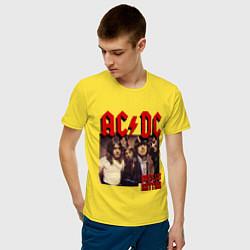 Мужская хлопковая футболка с принтом Girls got the rhythm, цвет: желтый, артикул: 10017324100001 — фото 2