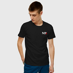 Футболка хлопковая мужская Mass Effect N7 цвета черный — фото 2