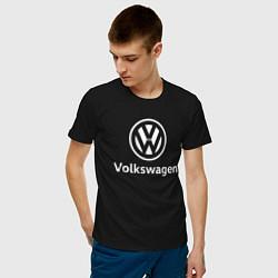 Футболка хлопковая мужская VOLKSWAGEN цвета черный — фото 2