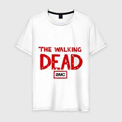Мужская хлопковая футболка с принтом The walking Dead AMC, цвет: белый, артикул: 10017421800001 — фото 1
