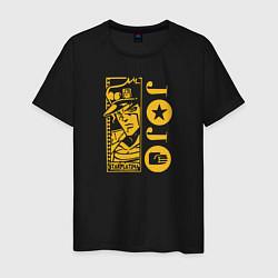 Футболка хлопковая мужская JoJo цвета черный — фото 1