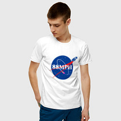 Футболка хлопковая мужская NASA Delorean 88 mph цвета белый — фото 2