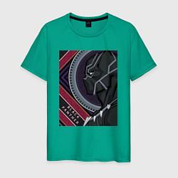 Футболка хлопковая мужская Black panther цвета зеленый — фото 1