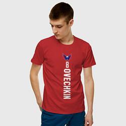 Футболка хлопковая мужская Washington Capitals: Alexander Ovechkin цвета красный — фото 2
