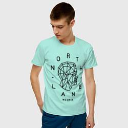 Футболка хлопковая мужская Northlane: Mesmer цвета мятный — фото 2
