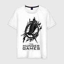 Футболка хлопковая мужская The Hunger Games цвета белый — фото 1