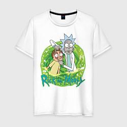 Мужская футболка Rick Sanchez and Morty Smith