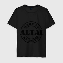 Футболка хлопковая мужская Made in Altai цвета черный — фото 1