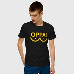 Мужская хлопковая футболка с принтом ONE PUNCH MAN, цвет: черный, артикул: 10189020500001 — фото 2