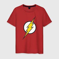 Футболка хлопковая мужская Flash цвета красный — фото 1