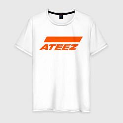 Мужская хлопковая футболка с принтом Ateez, цвет: белый, артикул: 10196048300001 — фото 1