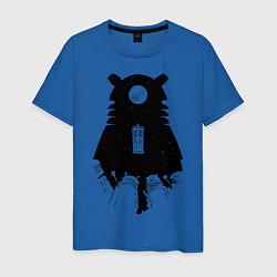 Футболка хлопковая мужская Доктор Кто цвета синий — фото 1