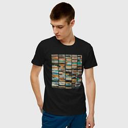 Футболка хлопковая мужская Скриптонит- 2004 цвета черный — фото 2