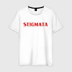 Мужская хлопковая футболка с принтом Stigmata, цвет: белый, артикул: 10203595100001 — фото 1