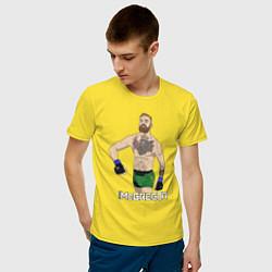 Мужская хлопковая футболка с принтом Конор МакГрегор, цвет: желтый, артикул: 10203926300001 — фото 2