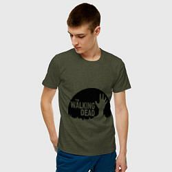 Мужская хлопковая футболка с принтом The Walking Dead, цвет: меланж-хаки, артикул: 10020753300001 — фото 2