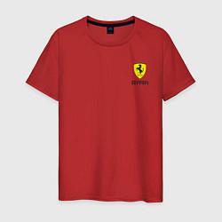 Футболка хлопковая мужская Ferrari цвета красный — фото 1