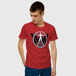 Футболка хлопковая мужская Westworld цвета красный — фото 2