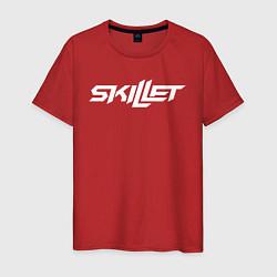 Мужская хлопковая футболка с принтом Skillet, цвет: красный, артикул: 10211197900001 — фото 1