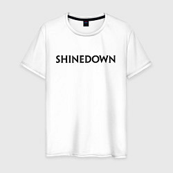 Футболка хлопковая мужская Shinedown цвета белый — фото 1