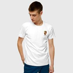 Футболка хлопковая мужская PORSCHE цвета белый — фото 2