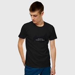 Мужская хлопковая футболка с принтом Россия Directed by Robert B, цвет: черный, артикул: 10212242500001 — фото 2