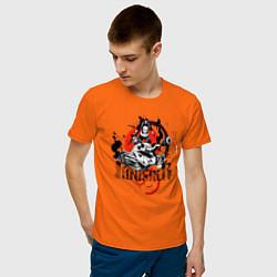 Футболка хлопковая мужская The Punisher цвета оранжевый — фото 2