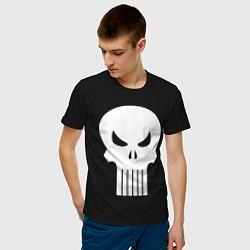Мужская хлопковая футболка с принтом The Punisher Череп, цвет: черный, артикул: 10214678700001 — фото 2