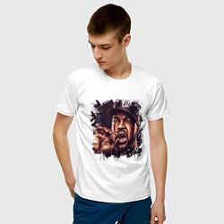 Футболка хлопковая мужская Ice Cube цвета белый — фото 2