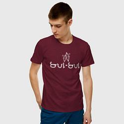 Футболка хлопковая мужская SUL SUL - Коллекция HG цвета меланж-бордовый — фото 2