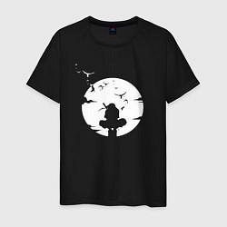 Футболка хлопковая мужская НАРУТО цвета черный — фото 1
