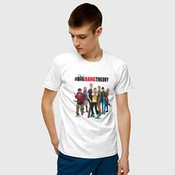 Футболка хлопковая мужская Heroes of the Big Bang Theory цвета белый — фото 2