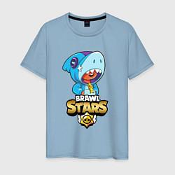 Мужская хлопковая футболка с принтом GOLDEN LEON, цвет: мягкое небо, артикул: 10224769900001 — фото 1