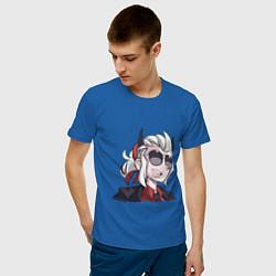 Футболка хлопковая мужская Justice Helltaker Z цвета синий — фото 2