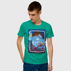 Футболка хлопковая мужская Джинн цвета зеленый — фото 2