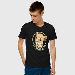 Мужская хлопковая футболка с принтом Нала, цвет: черный, артикул: 10266111700001 — фото 2