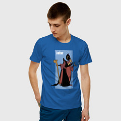Футболка хлопковая мужская Джафар цвета синий — фото 2