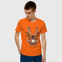 Футболка хлопковая мужская Kurort-Darasun цвета оранжевый — фото 2