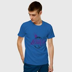 Мужская хлопковая футболка с принтом Welcome to LA LeBron, цвет: синий, артикул: 10274328900001 — фото 2