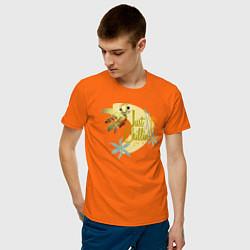 Футболка хлопковая мужская Just Chillin цвета оранжевый — фото 2