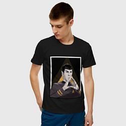 Футболка хлопковая мужская Spock Z цвета черный — фото 2