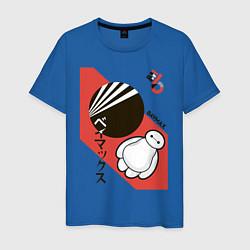 Футболка хлопковая мужская Baymax цвета синий — фото 1